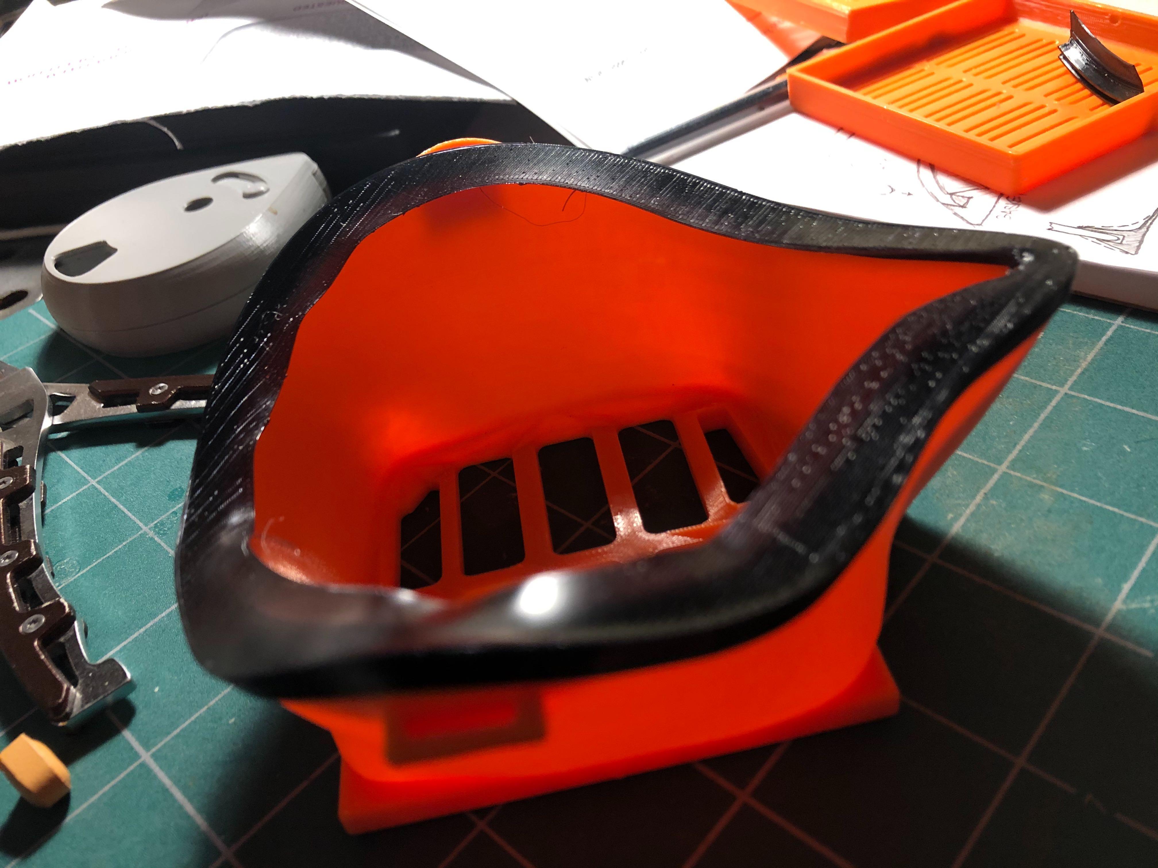 3D Printable Masks/FFP2 Style HEPA/FFP2HEPA_gasket_on_mask.jpg